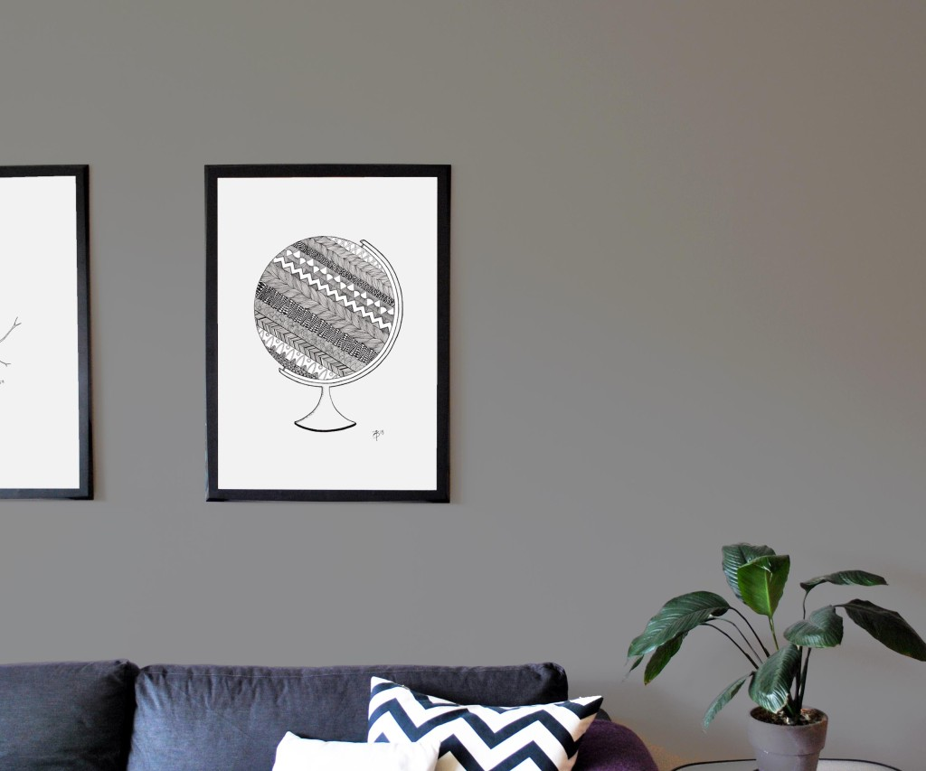 Globe, 50x70 cm