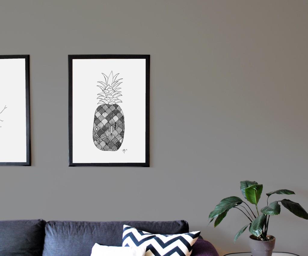 Pineapple, 50x70 cm