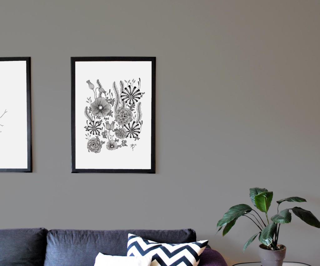Wallflowers, 50x70 cm