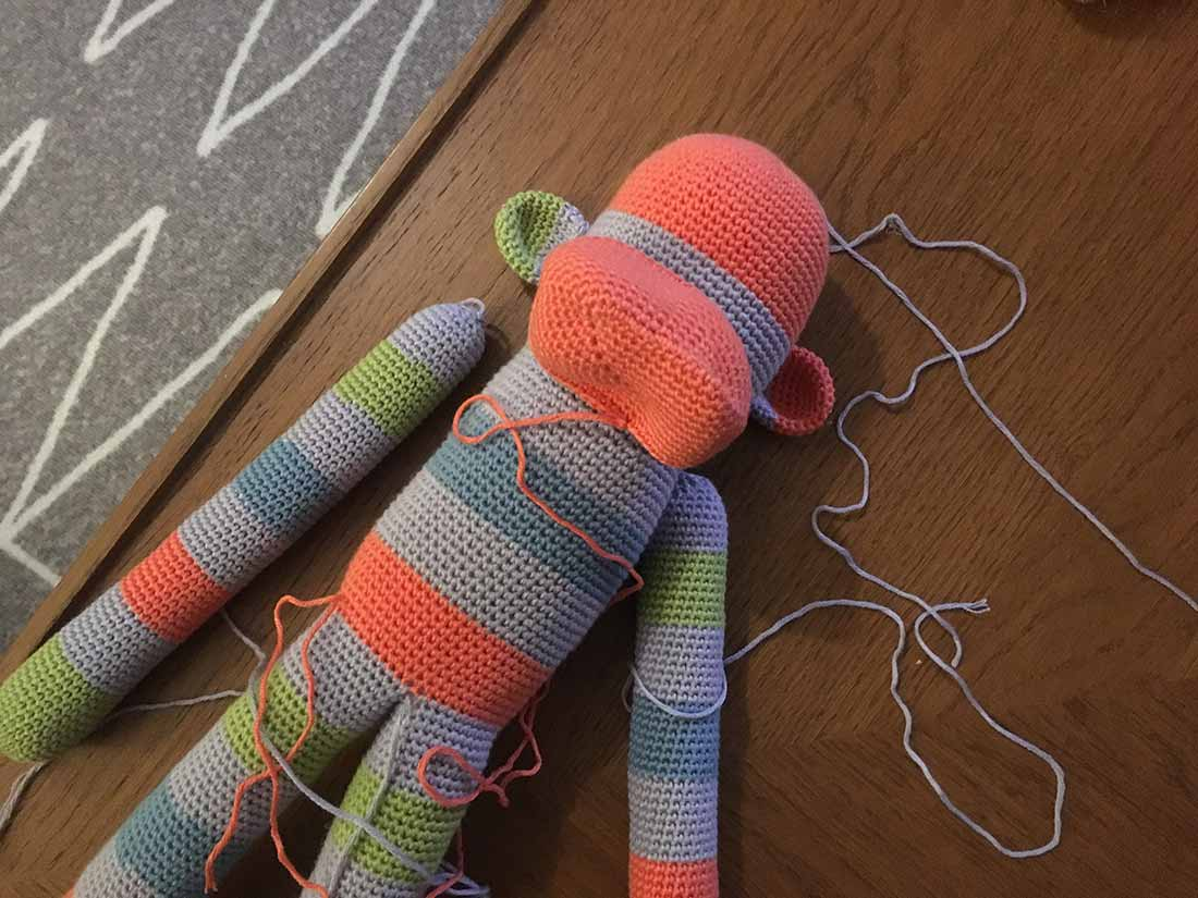 Sock monkey amigurumi